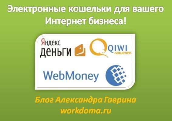 Электронные кошельки для интернет бизнеса
