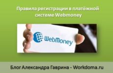 Правила регистрации в платёжной системе Webmoney