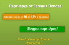 Как заработать на партнерских программах: партнерка от Евгения Попова!