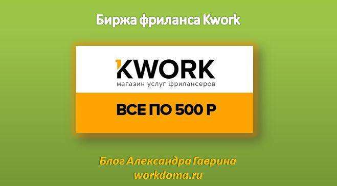 Биржа фриланса Kwork