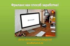 Фриланс как способ заработка в Интернете!