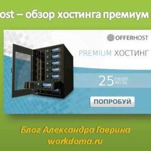 Offerhost – обзор хостинга премиум класса для сайтов