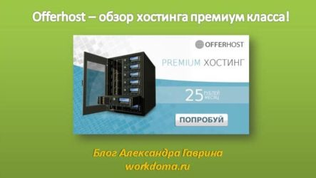 Offerhost – обзор хостинга премиум класса!