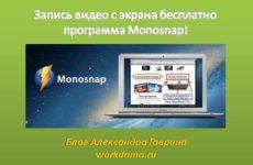 Monosnap – Запись Видео с Экрана Бесплатная программа!