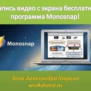 Monosnap - Запись Видео с Экрана Бесплатная Программа