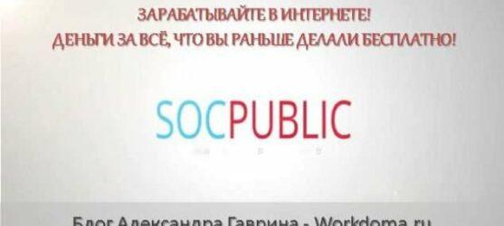 Заработок в интернете на заданиях: сервис Socpublic!