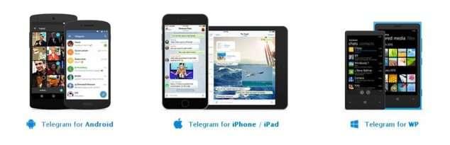 выбрать официальное приложение Telegram