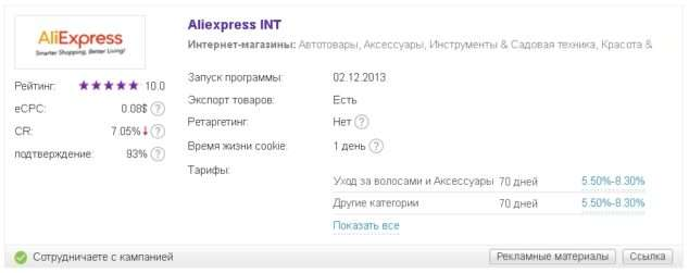 Каталог партнёрских программ _ admitad_Aliexpress