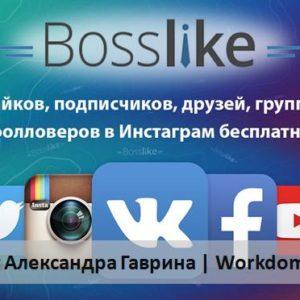 Bosslike - бесплатная накрутка лайков, подписчиков Вконтакте, Инстаграм!