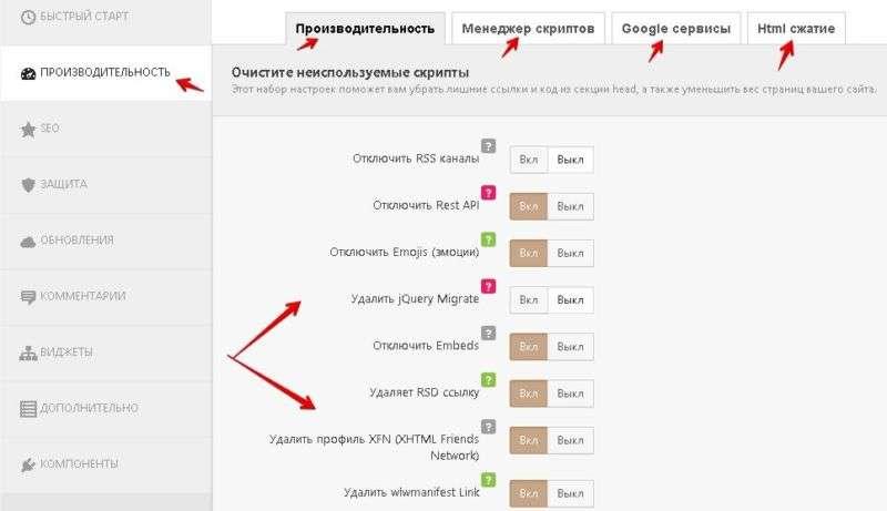 плагин Clearfy улучшает производительность сайта