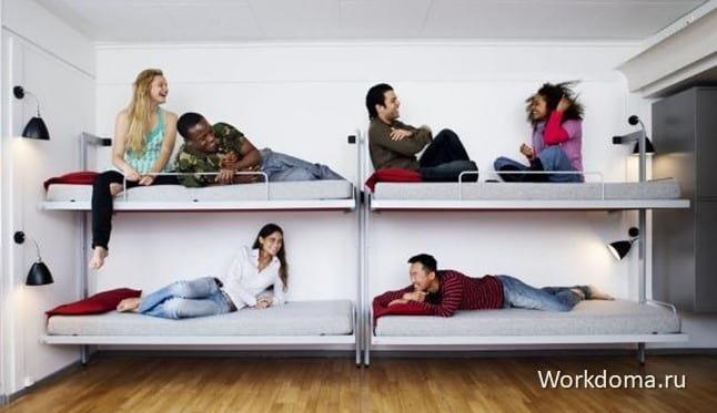 оборудование и мебель для хостела